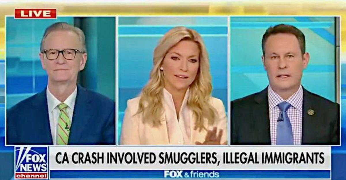 Fox & Friends host makes social distancing 'joke' about horrific crash that killed 13 people