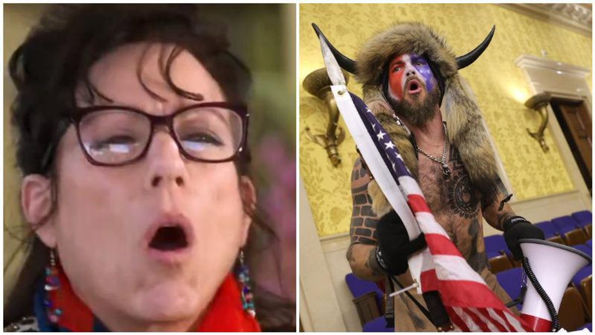 WATCH: QAnon Shaman's mom defends her son's honor while spewing conspiracy theories about 2020 election