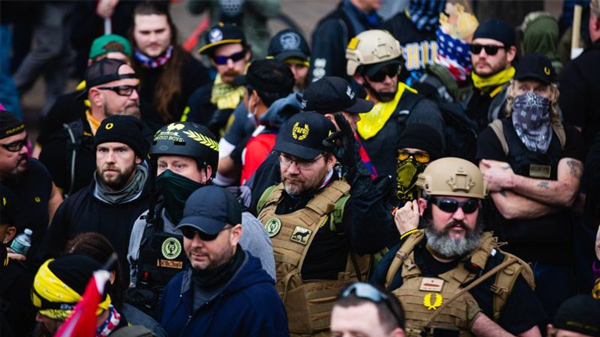 Proud Boys leaders ordered jailed ahead of trial for MAGA riots: report