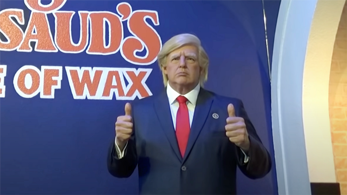 Texas museum forced to put away Trump wax sculpture — because people kept punching it in the face