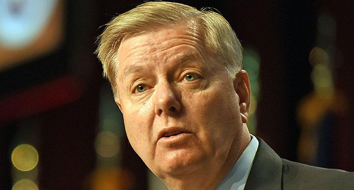 'Make him do it': Lindsey Graham slammed after saying he would talk until he 'fell over' to stop voting rights bill
