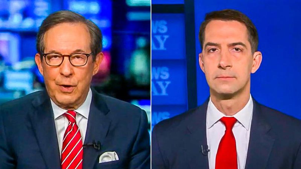 Chris Wallace nails Tom Cotton for voting record under Trump after he opposes Biden relief checks