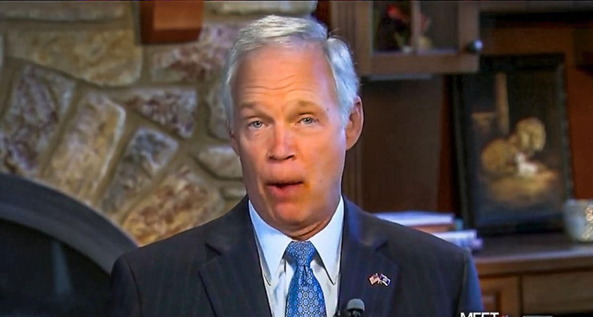 'Gullible rube' Ron Johnson buried in mockery over explanation of how Greenland got its name