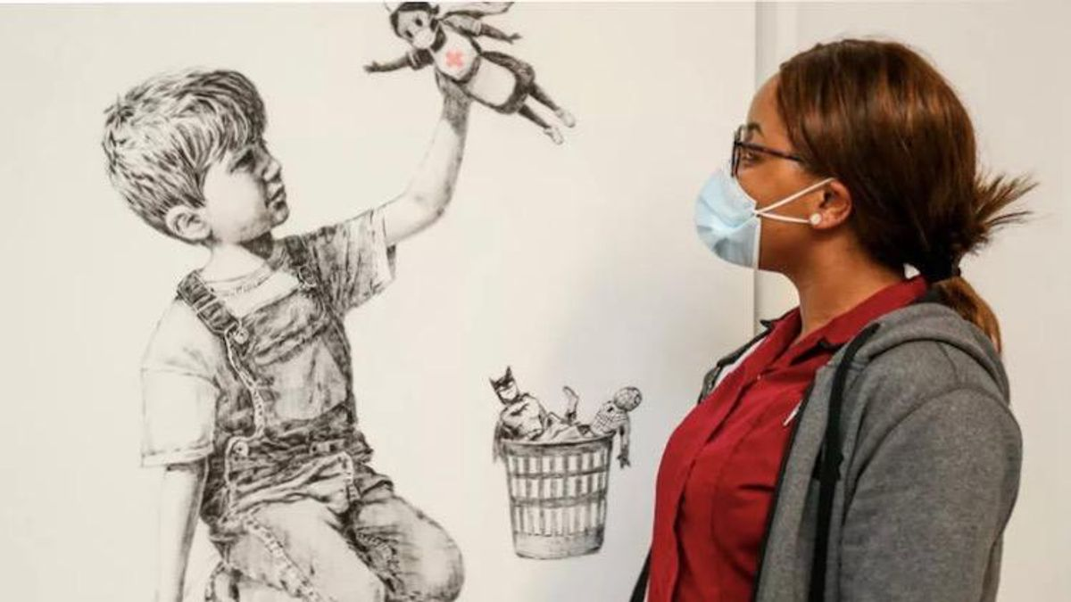 Banksy painting to raise millions for UK health service