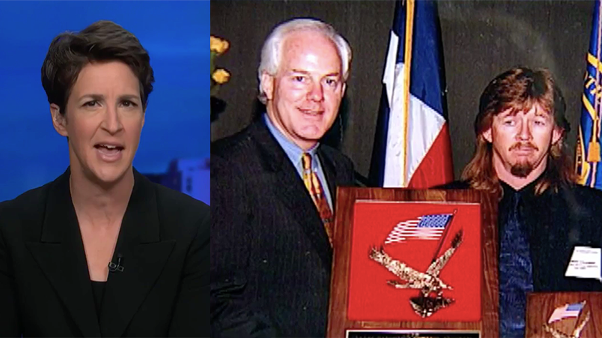 Maddow explains exactly why John Cornyn is fighting new DOJ nominee — and it has nothing to do with qualifications