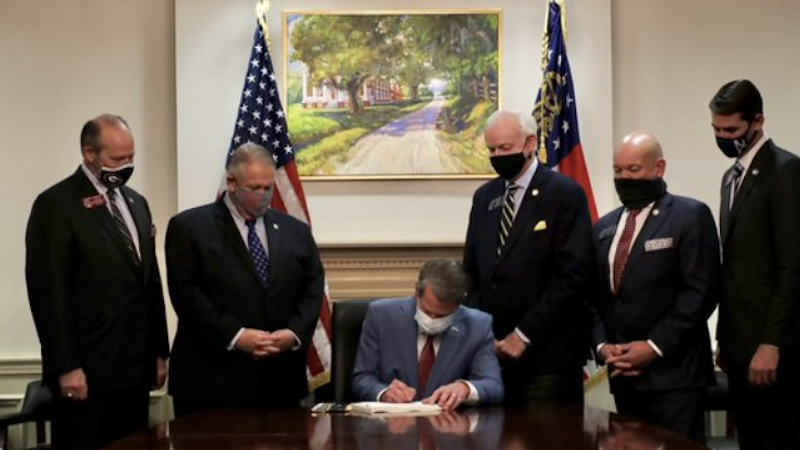 Georgia Gov. Brian Kemp signs sweeping election rule changes into law