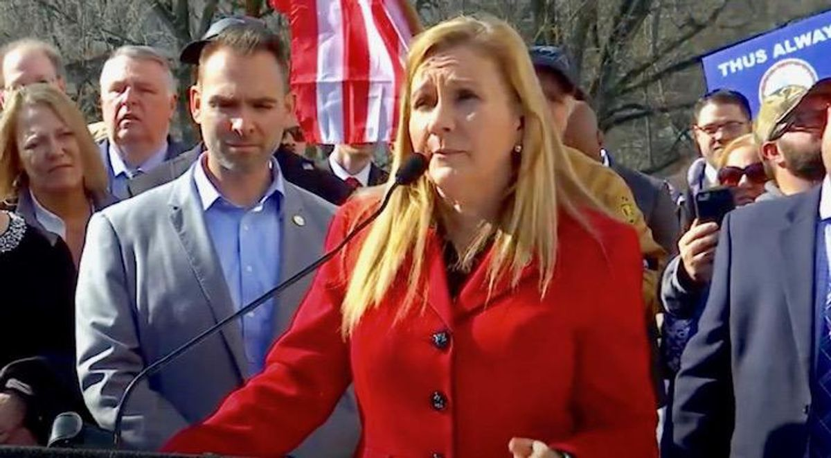 Aide to Trump-loving Virginia candidate brandishes gun during profane 'road rage' incident