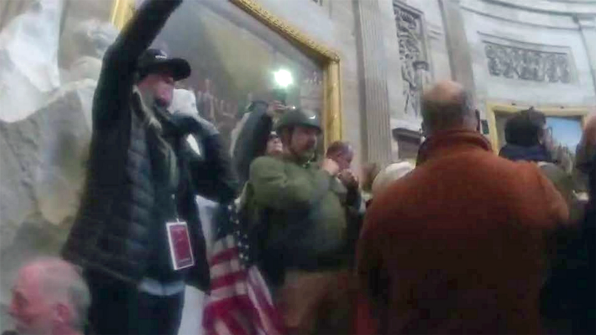 Capitol rioter kept going after being teargassed by police because 'he did not see any sign'