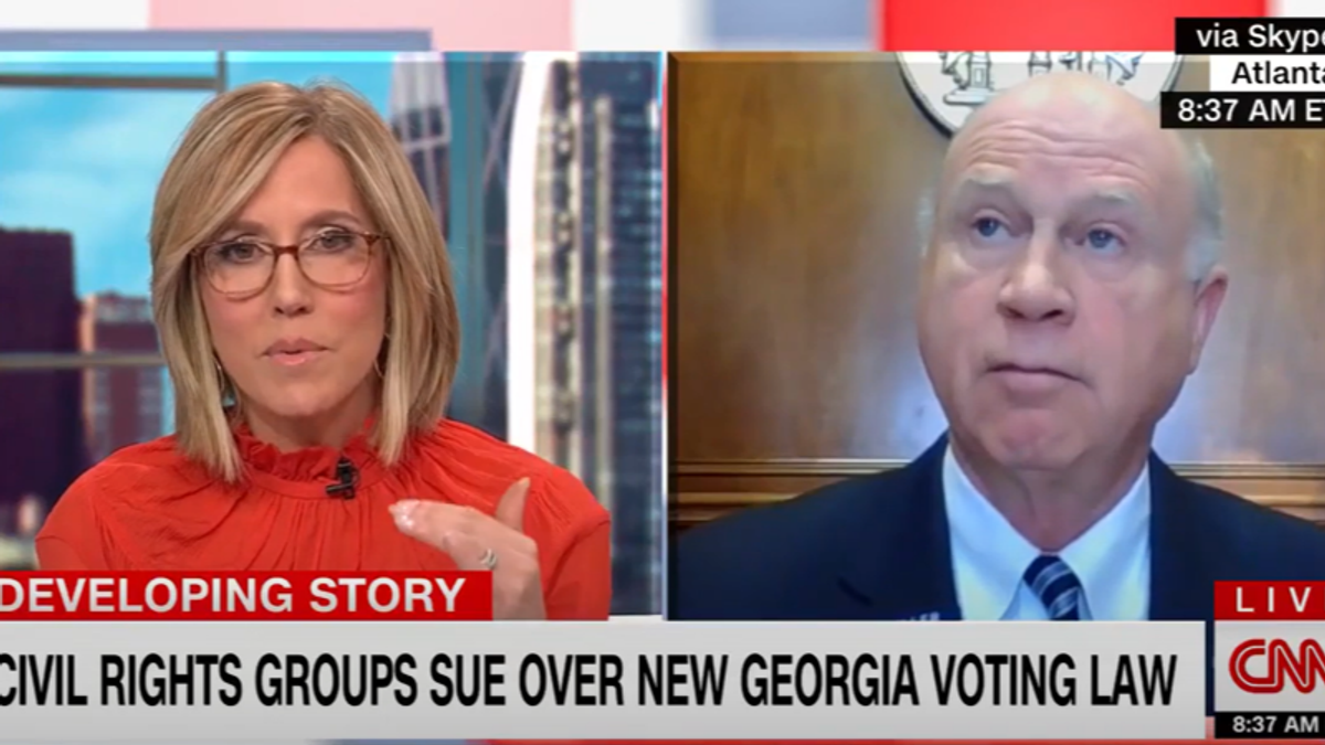 CNN's Alisyn Camerota clashes with Georgia Republican over new voting restrictions