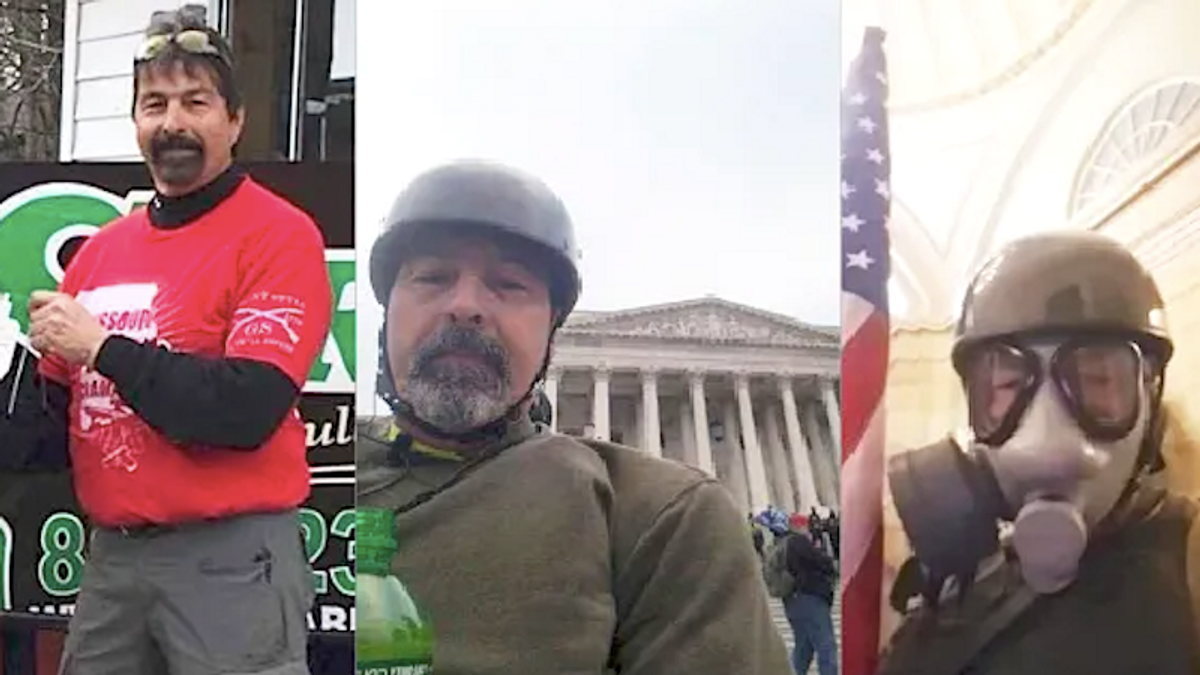 'Hot-head' gun shop owner identified as Capitol rioter by his Facebook friends -- who say he 'had grown bitter'