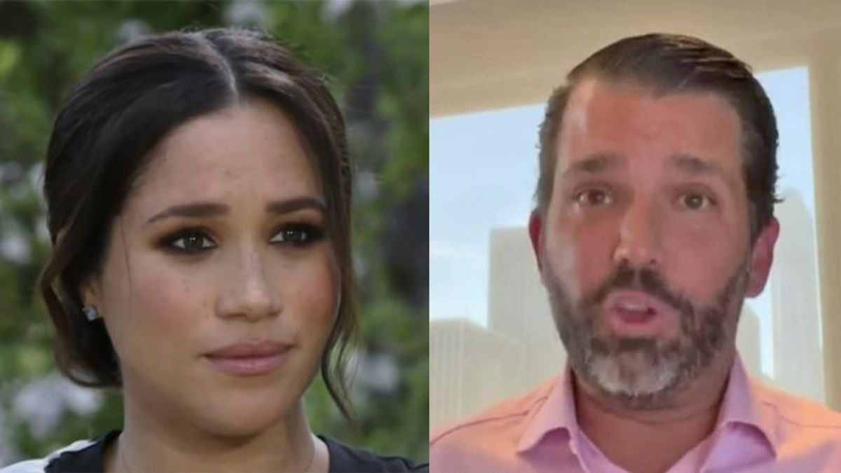 'Literally no one cares': Donald Trump Jr brutally mocked over his 'embarrassing' rant on Meghan Markle