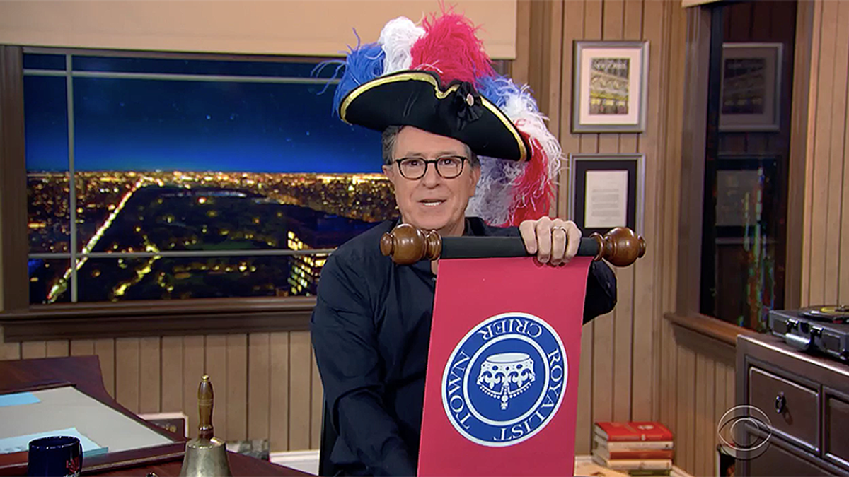 Colbert: 'Piers Morgan is such a baby someone at Buckingham Palace asked what color he'll be'