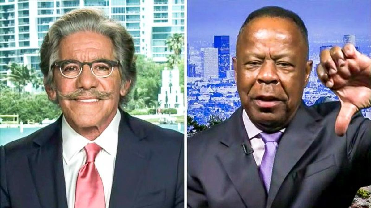 Fox News pundit confronts Geraldo Rivera with a giant 'thumbs down' after he teases Senate candidacy