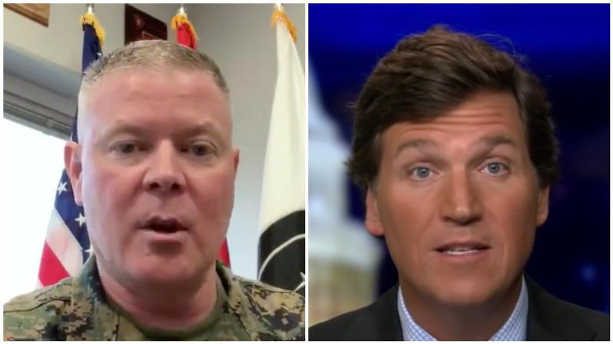 WATCH: Military leader goes viral for his 'beautiful' takedown of Tucker Carlson