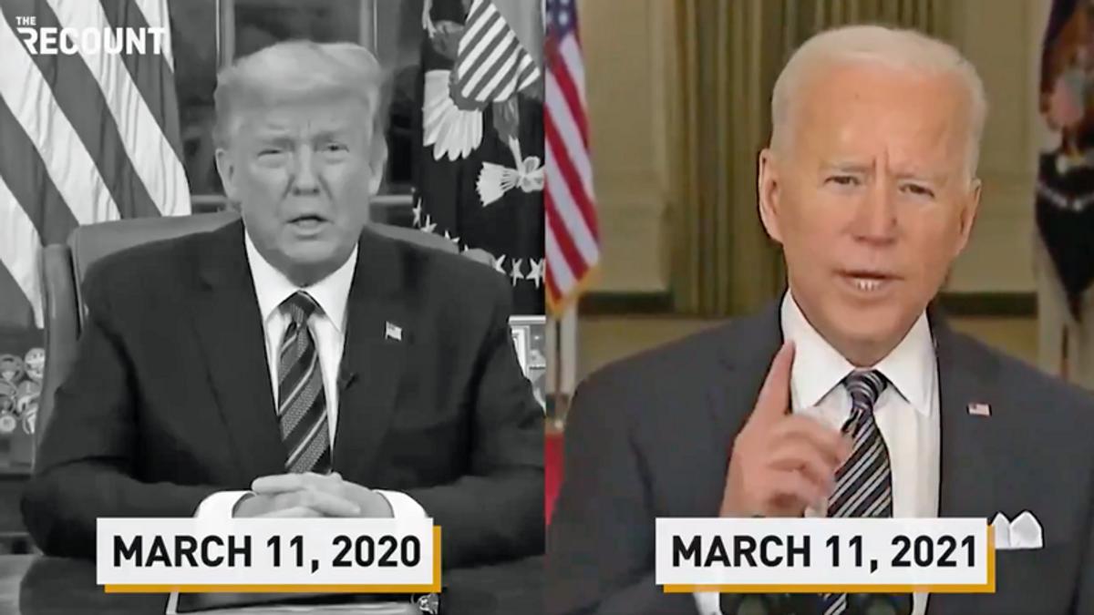 Trump's coronavirus failures contrasted with Biden's big speech in powerful new video