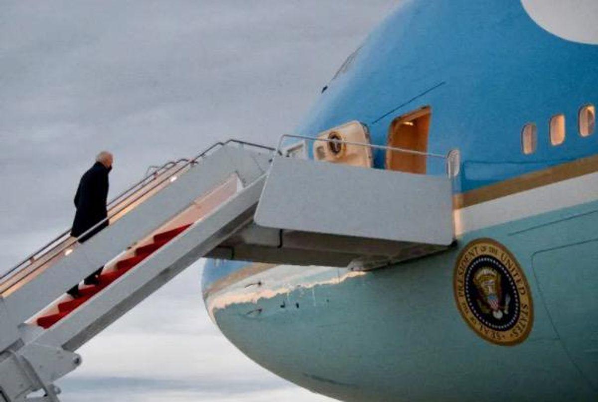 Homeless man roams air base housing Biden's plane for five hours