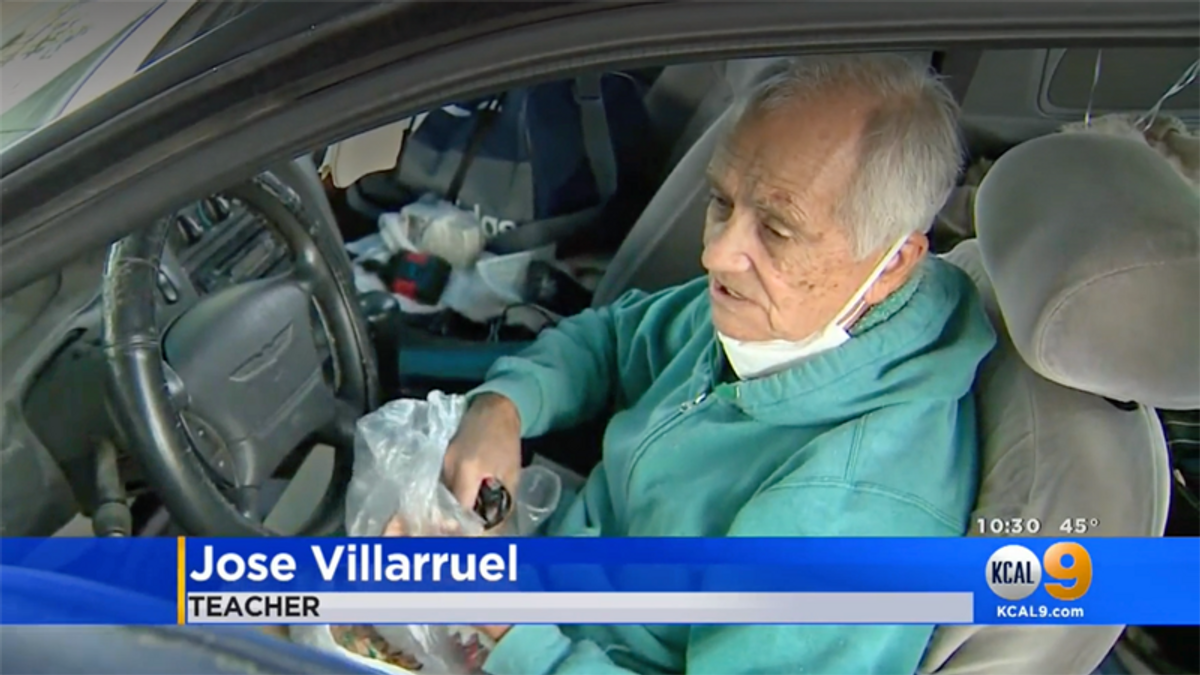 Substitute teacher living in car receives $27K raised by former students on his 77th birthday
