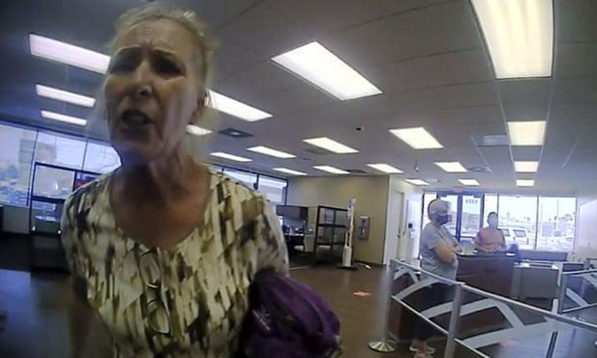 Cops arrest indignant anti-masker -- after she rants 'What are you going to do, arrest me?'