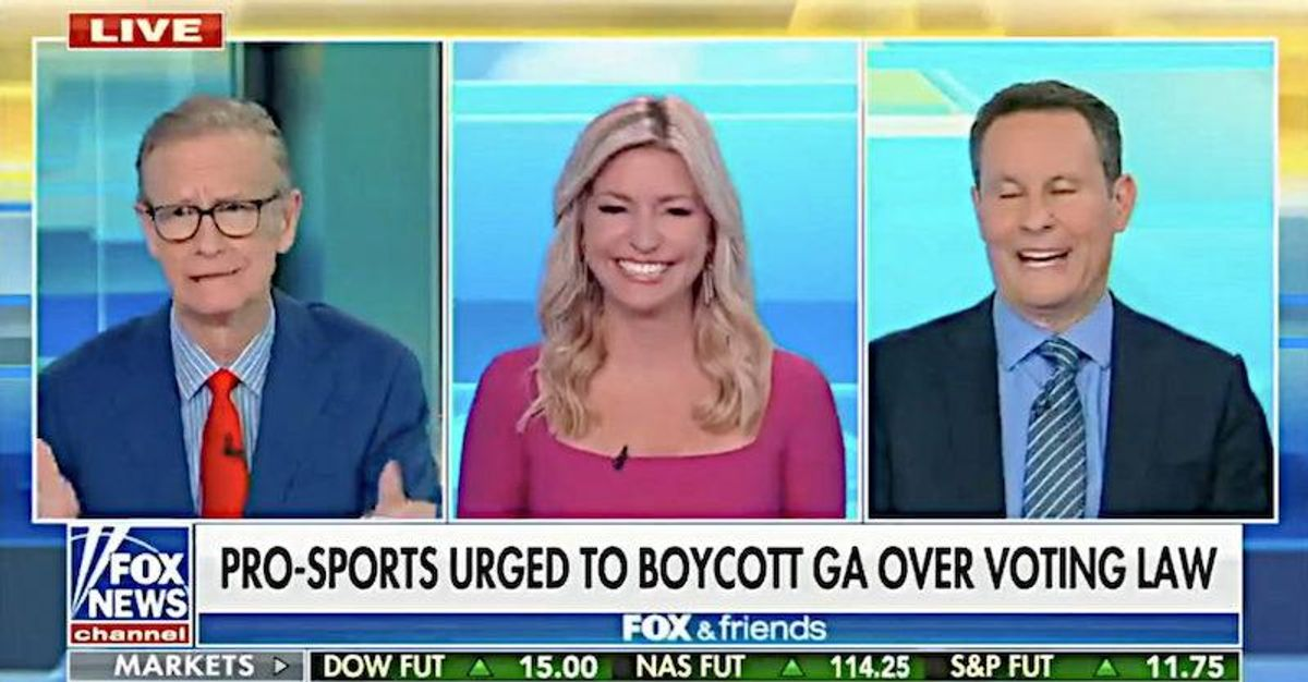 'Cracks me up': Fox & Friends hosts gang up to mock Georgia voters banned from being given water