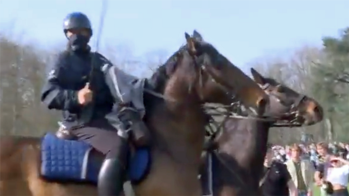 WATCH: Cops on horseback charge Brussels April Fool's Day 'party' crowd
