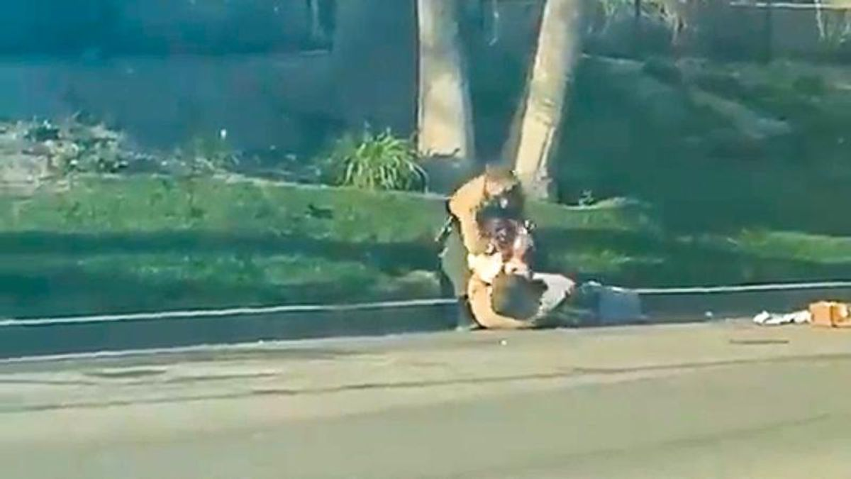 'He can't breathe': Disturbing video catches cops choking and beating Black man on California street