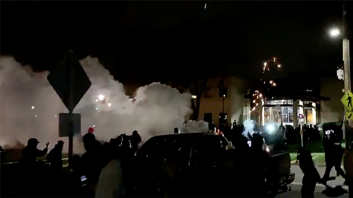 'Feels like we at war': Minnesota cops use gas and flash bangs against angry protesters
