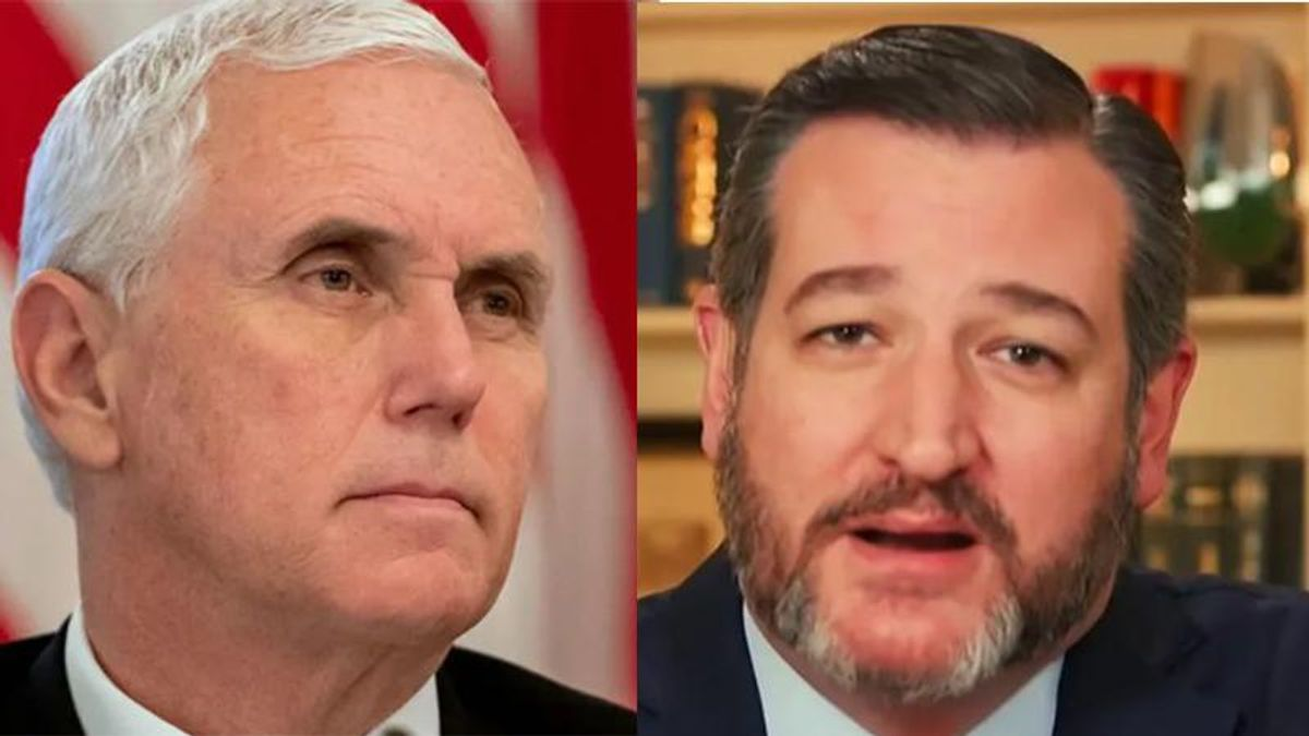 WATCH: Mike Pence compared to 'sniveling coward' Ted Cruz in brutal MSNBC takedown