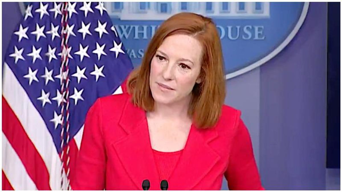 WATCH: Jen Psaki takes a swipe at Trump after reporter asks about Biden's 'conventional' tweets
