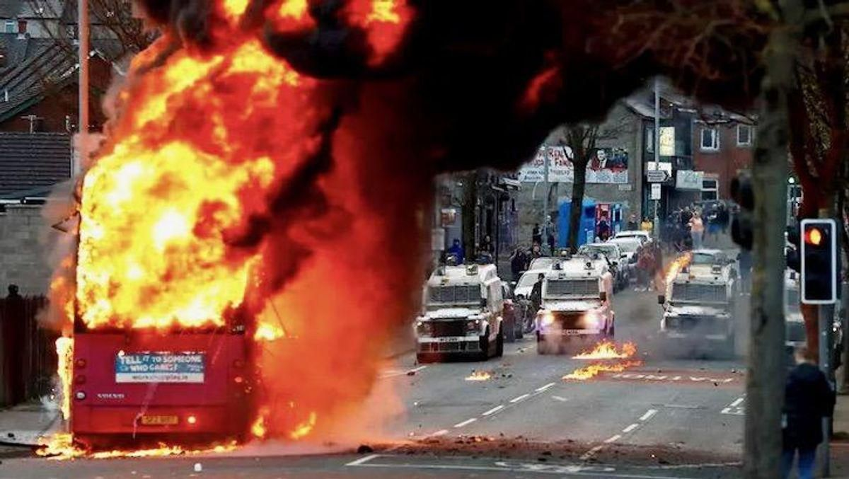 Northern Ireland, born of strife 100 years ago, again erupts in political violence