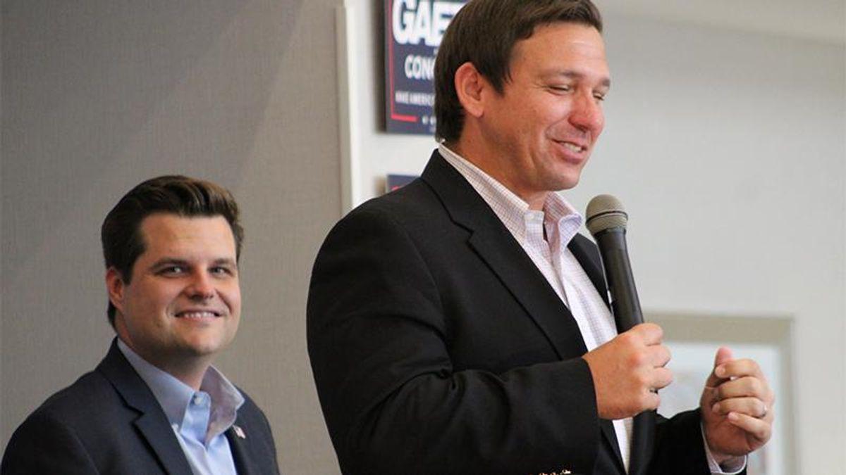 Ron DeSantis dodges questions about pal Matt Gaetz's legal troubles