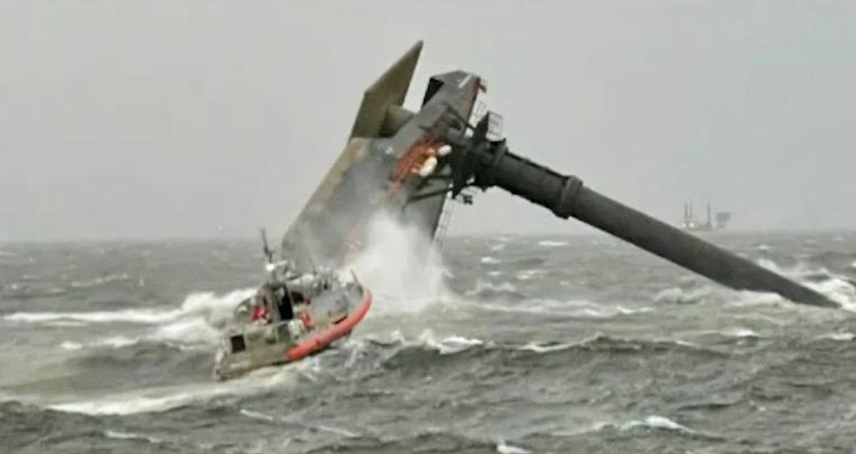 12 missing off US Gulf Coast after ship capsizes