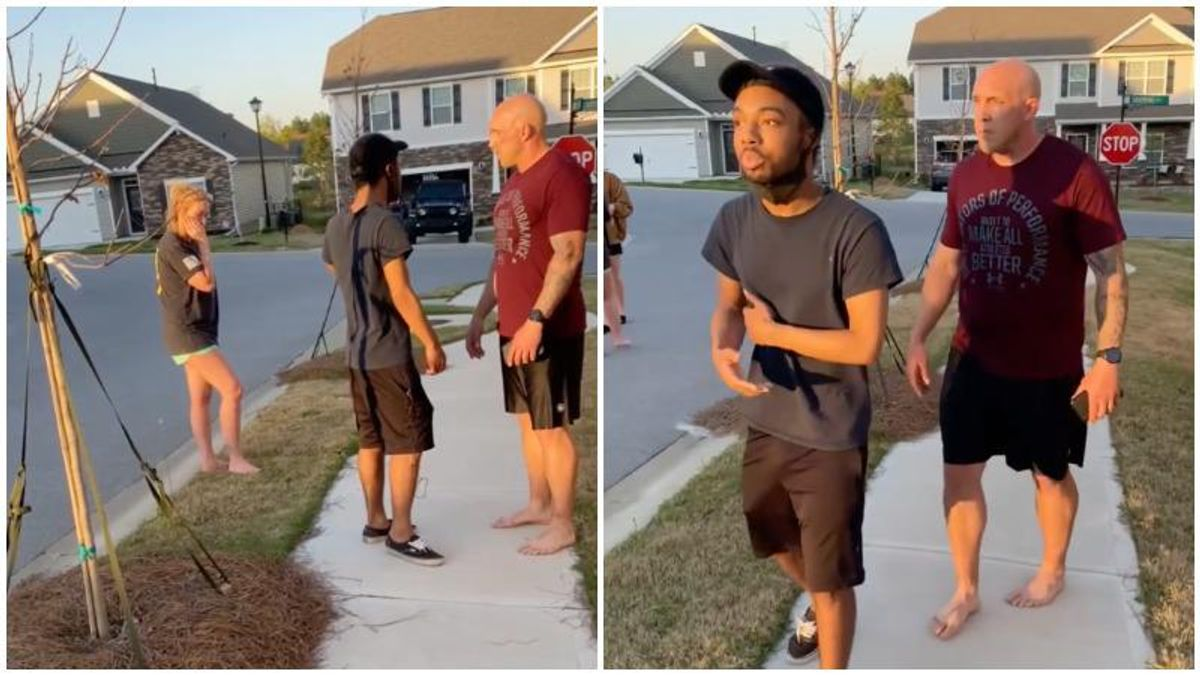 'What are you doing here? Keep walking!': Army sergeant threatens young Black man for being in his neighborhood