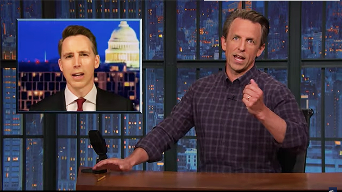 Seth Meyers mocks Cruz, Hawley and Lee for suddenly caring about corporations after giving them $2T tax break