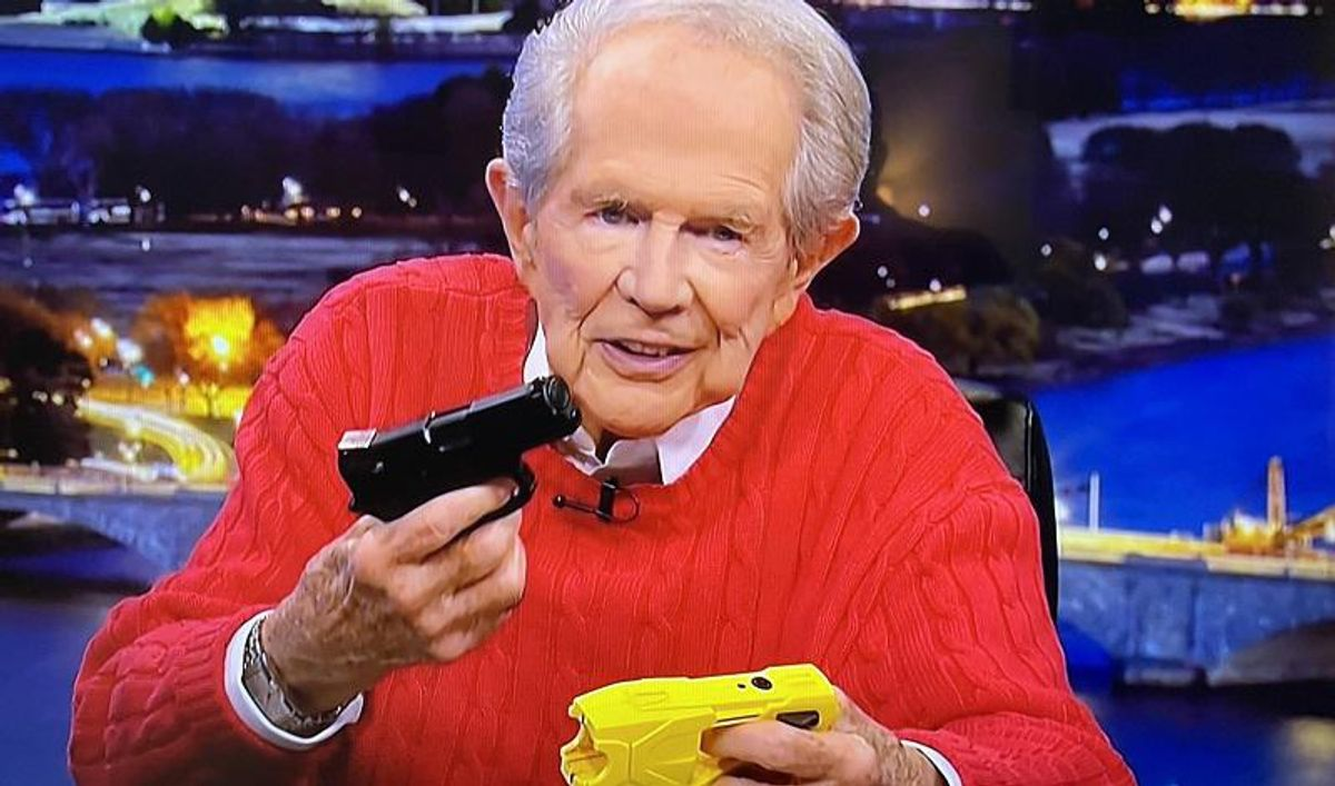 WATCH: Pat Robertson slams cops who can't tell difference between a hand gun and a Taser