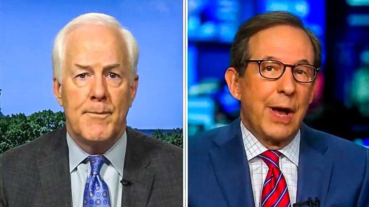 'Is that helpful?' Chris Wallace battles John Cornyn over tweet suggesting Biden not in charge