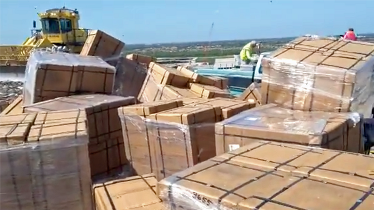 WATCH: Brand new medical ventilators discarded in Florida landfill