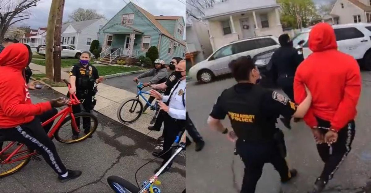 'Riding bikes while Black': Cops under fire after swarming teens over lack of bicycle 'license tags'