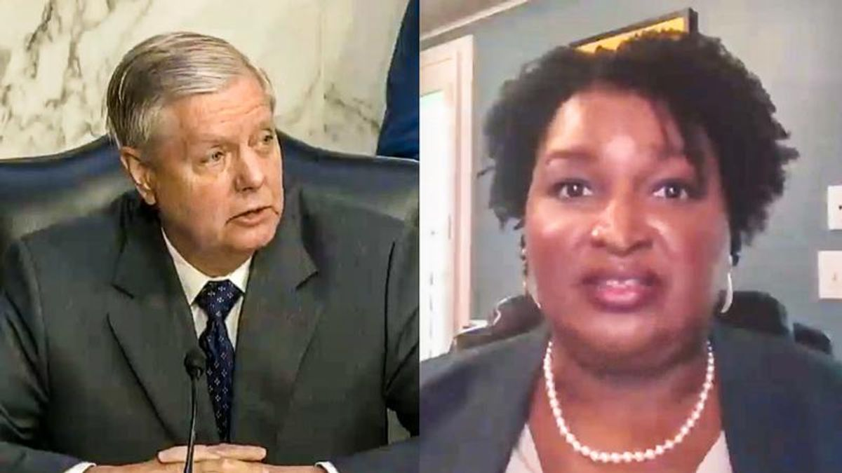 'Racial animus exists': Stacey Abrams expertly buries Lindsey Graham at voting rights hearing