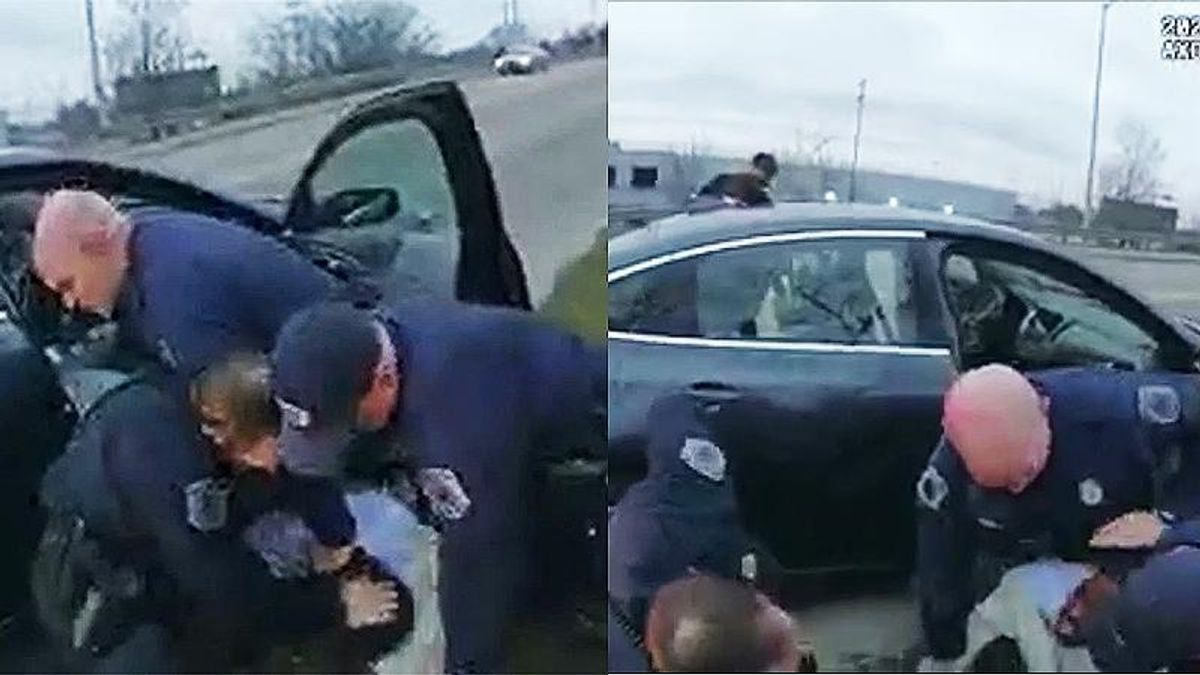 Bodycam shows Michigan cops punching Black man in the face after stop for littering: 'He's lucky he's not dead'