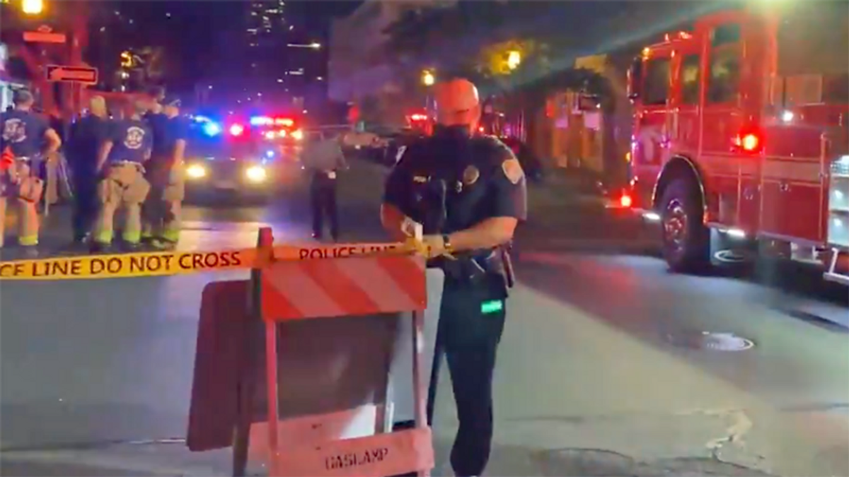 Tonight's mass shooting occurred in downtown San Diego's Gaslamp Quarter