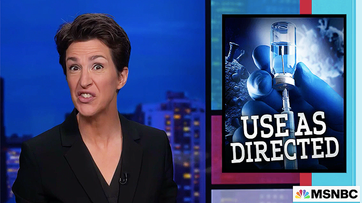 Rachel Maddow does epic and hilarious remembrance of Trump's bleach anniversary