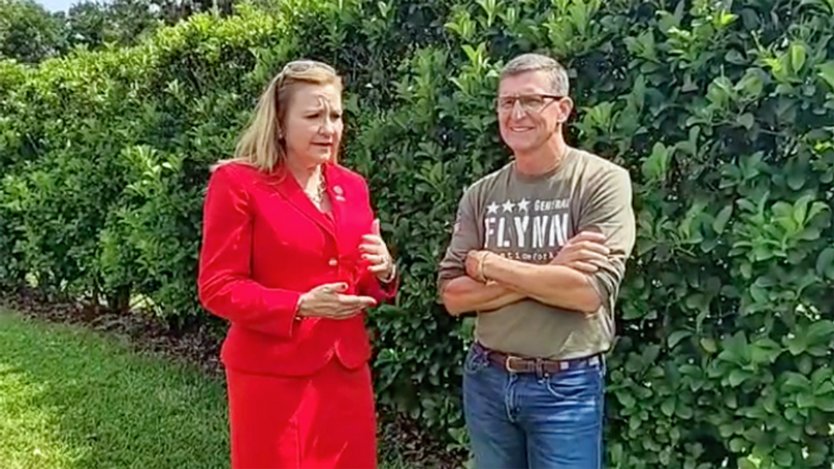 'She's savvy': Mike Flynn endorses far-right Republican who pushed Trump to invoke Martial Law