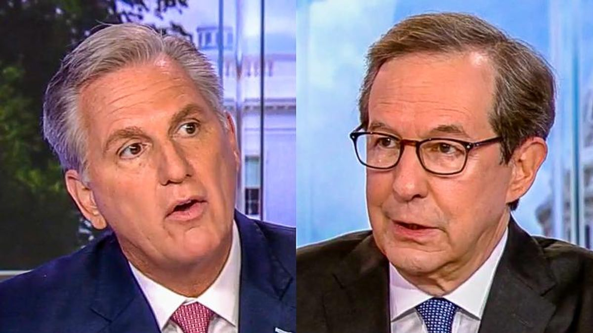 WATCH: Kevin McCarthy squirms as Chris Wallace grills him about Trump's seditious behavior on Jan. 6