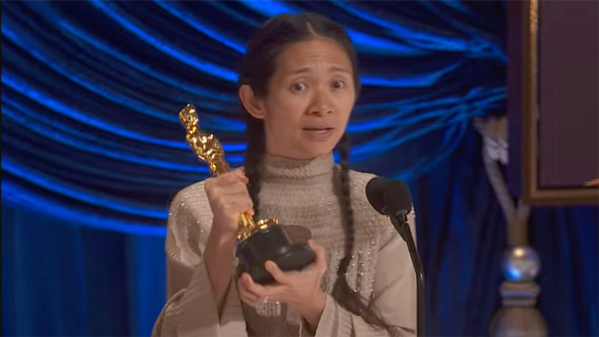 Chloe Zhao wins Oscar for best director -- only the second woman in history