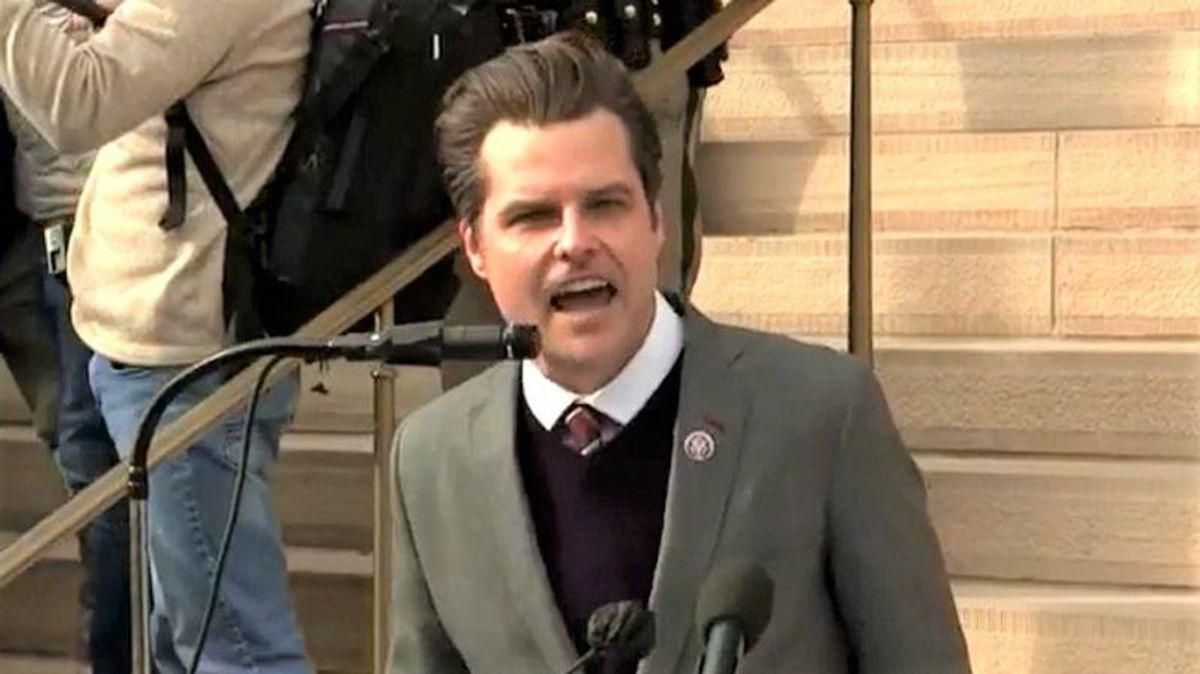 'I am absolutely not resigning': Matt Gaetz pens angry column insisting no recent sex with 17-year-old girl