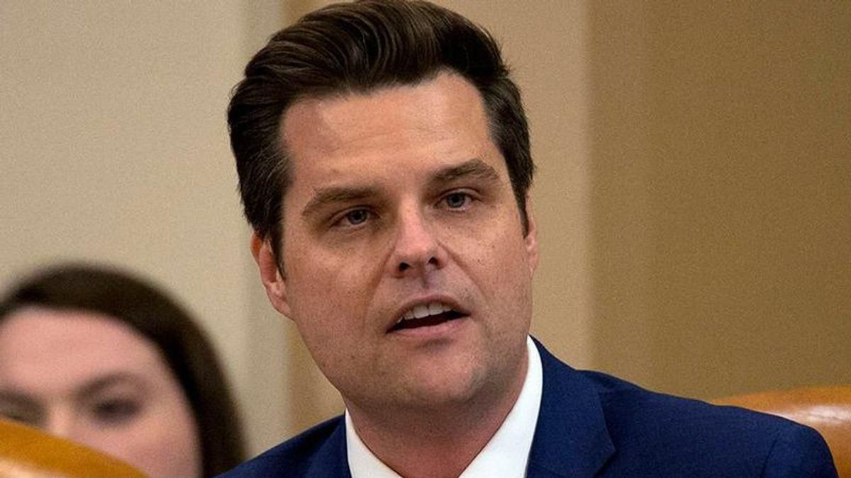 'Entitled, unpleasant creep' Matt Gaetz ripped to shreds for claiming a 'witch hunt' is out to get him