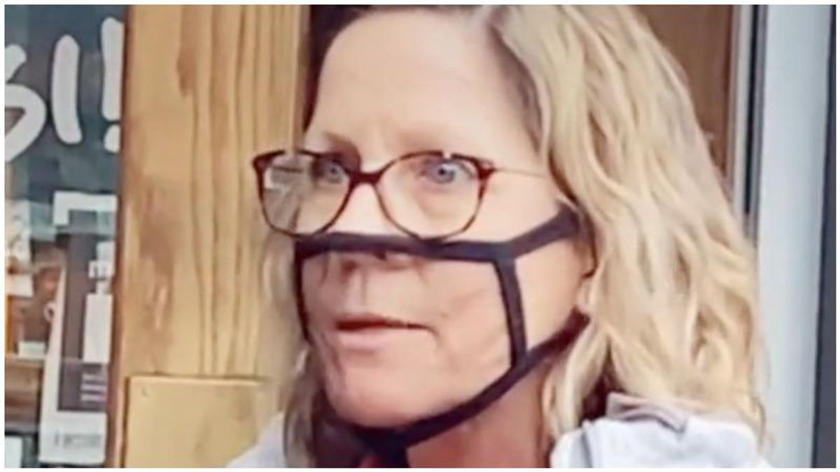 WATCH: Agitated 'Karen' insists her mesh mask is CDC approved in viral TikTok video