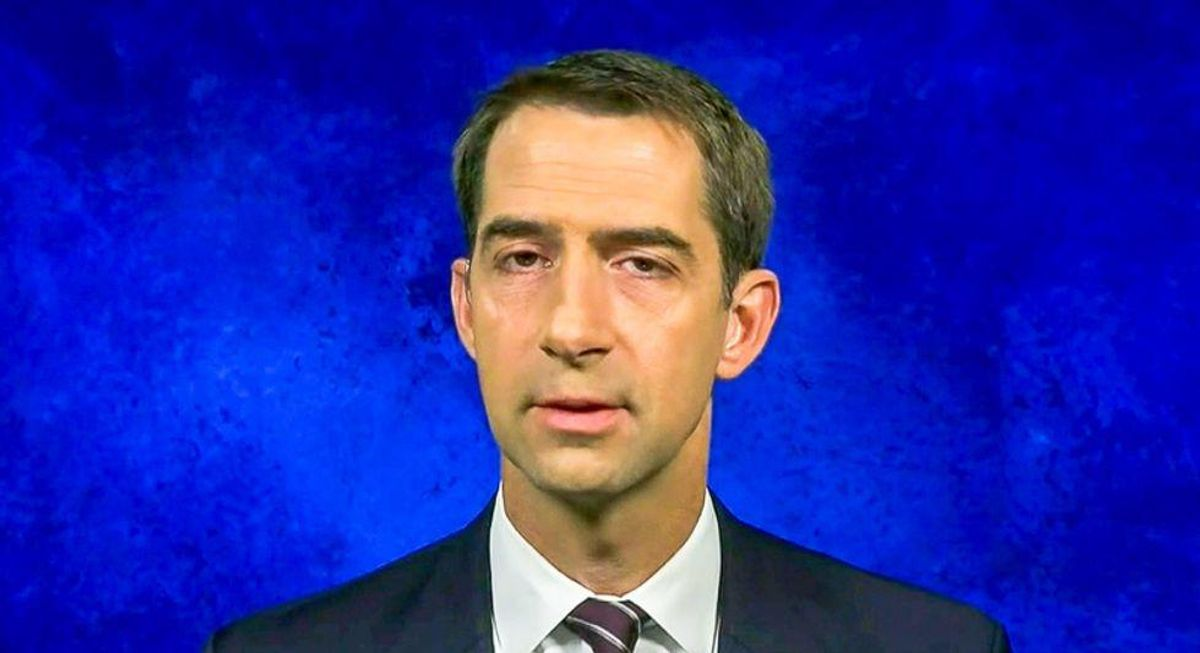 'Sociopath' Tom Cotton buried as 'blood-thirsty fascist' for claiming US has 'major under-incarceration problem'