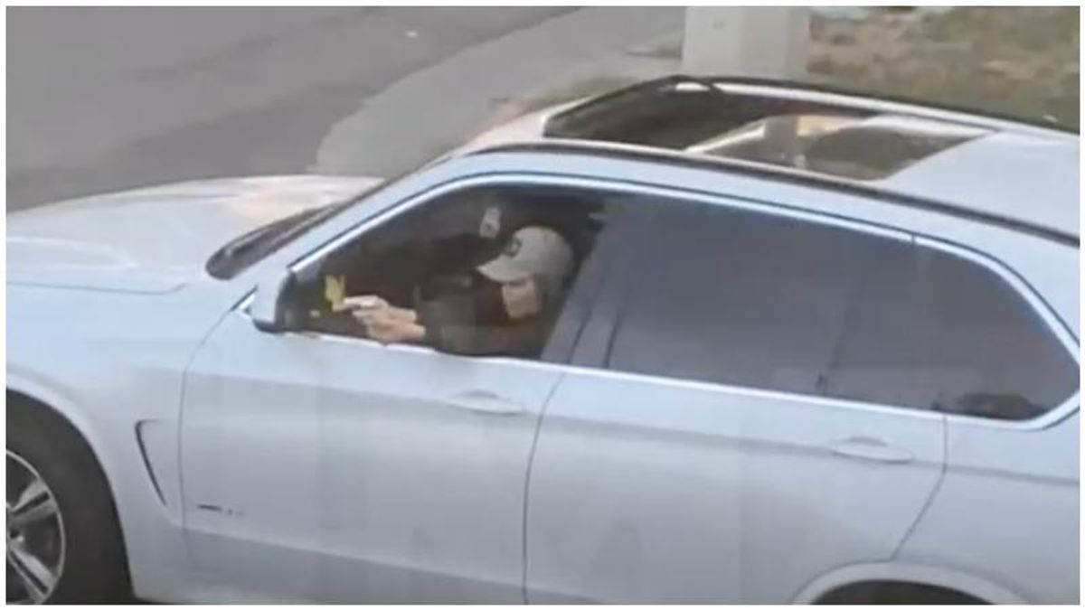 'Anybody wanna die?' Shocking video shows enraged woman opening fire while stuck in Los Angeles traffic
