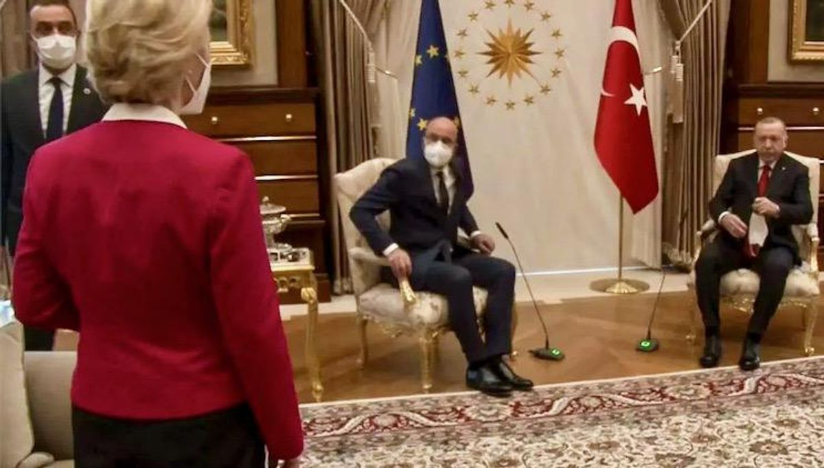 'Sofagate': Brussels angry as Turkey leaves EU chief Ursula von der Leyen standing